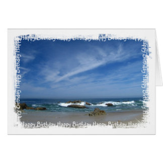 Perfect Pacific; Happy Birthday Card
