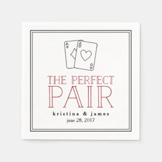 Perfect Pair | Playing Cards Paper Serviettes