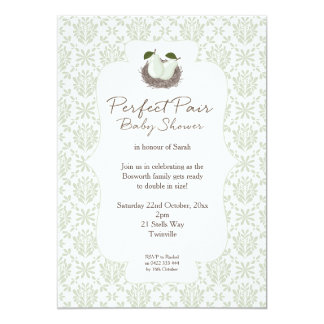 Perfect Pair Twin Baby Shower Invitation