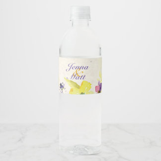 Perfect Pansies, Floral Water Bottle Label