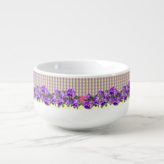 Perfect Pansies Soup Mug