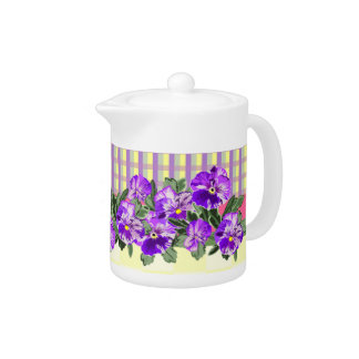 Perfect Pansy Teapot