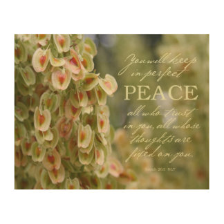 Perfect Peace Wood Print 10x8""