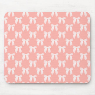 Perfect Peach Pastel With White Bows Mousepad