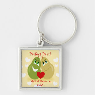 Perfect Pear Couples Key Chain