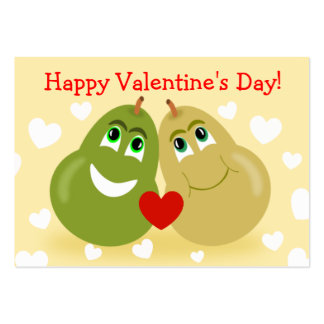 Perfect Pear Hearts Kids Valentines Day Cards Business Card