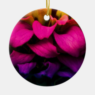 Perfect Petals Round Ceramic Decoration