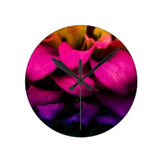 Perfect Petals Round Clock