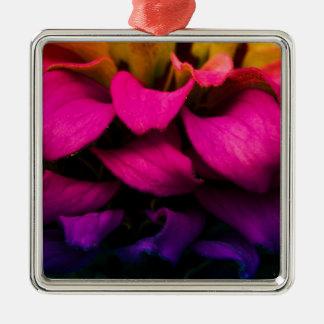 Perfect Petals Silver-Colored Square Decoration