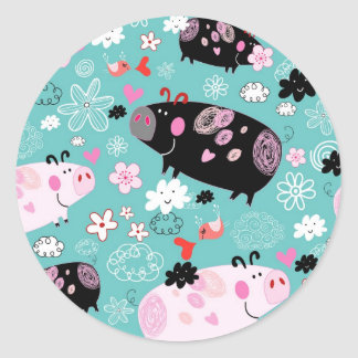 Perfect Piggies Sticker Sheet