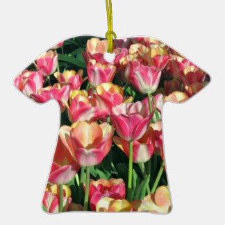 Perfect Pink and Peach Tulips T-Shirt Ornament