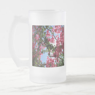 Perfect Pink Bougainvillea In Blossom Frosted Glass Beer Mug