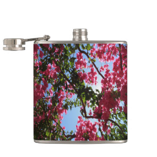 Perfect Pink Bougainvillea In Blossom Hip Flask