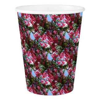 Perfect Pink Bougainvillea In Blossom Paper Cup