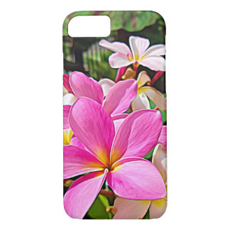 Perfect Pink Plumeria iPhone Cases