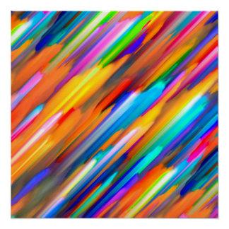 Perfect Poster Colorful digital art splashing G391