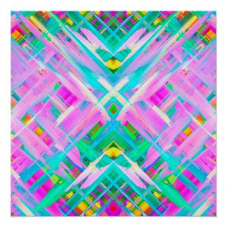 Perfect Poster Colorful digital art splashing G473