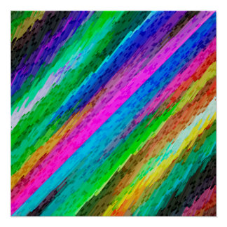 Perfect Poster Colorful digital art splashing G478