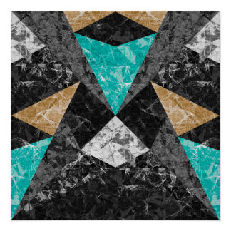 Perfect Poster Marble Geometric Background G430