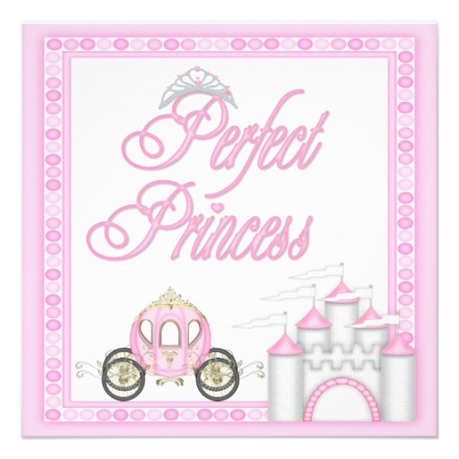 Perfect Princess Baby Shower Coach and Castle Personalized Invitations