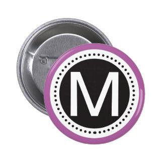 Perfect purple and white Monogram Button