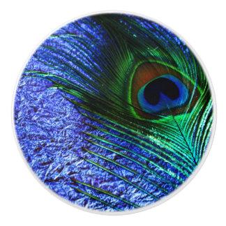 Perfect Purple Peacock Ceramic Knob