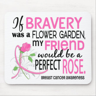 Perfect Rose 2 Friend Breast Cancer Mouse Pad