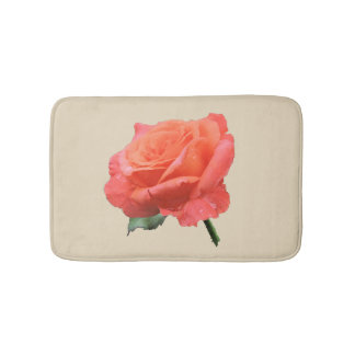 Perfect Rose in the Rain Bath Mat