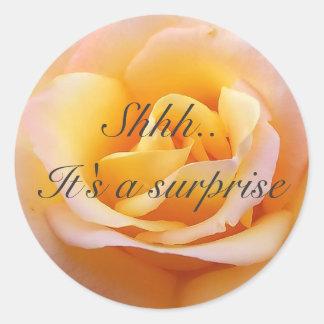 Perfect Rose - Shh. It's a surprise Classic Round Sticker