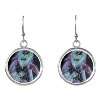perfect scary skeleton earrings