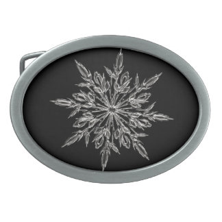 Perfect Snowflake for the Christmas Holiday Belt Buckle