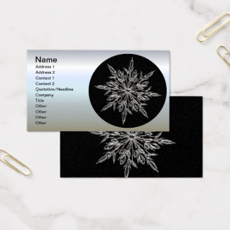 Perfect Snowflake for the Christmas Holiday Business Card
