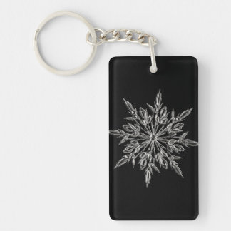 Perfect Snowflake for the Christmas Holiday Key Ring