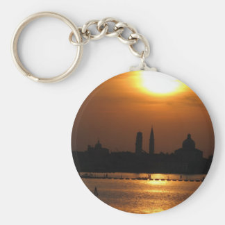 Perfect sunset in Venice, Italy Key Chain