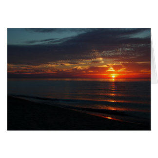 Perfect Sunset over Lake Michigan Greeting Card