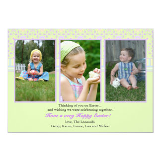 Perfect Three Photo Card. Card