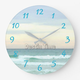 Perfect Time in Destin, Florida Large Clock