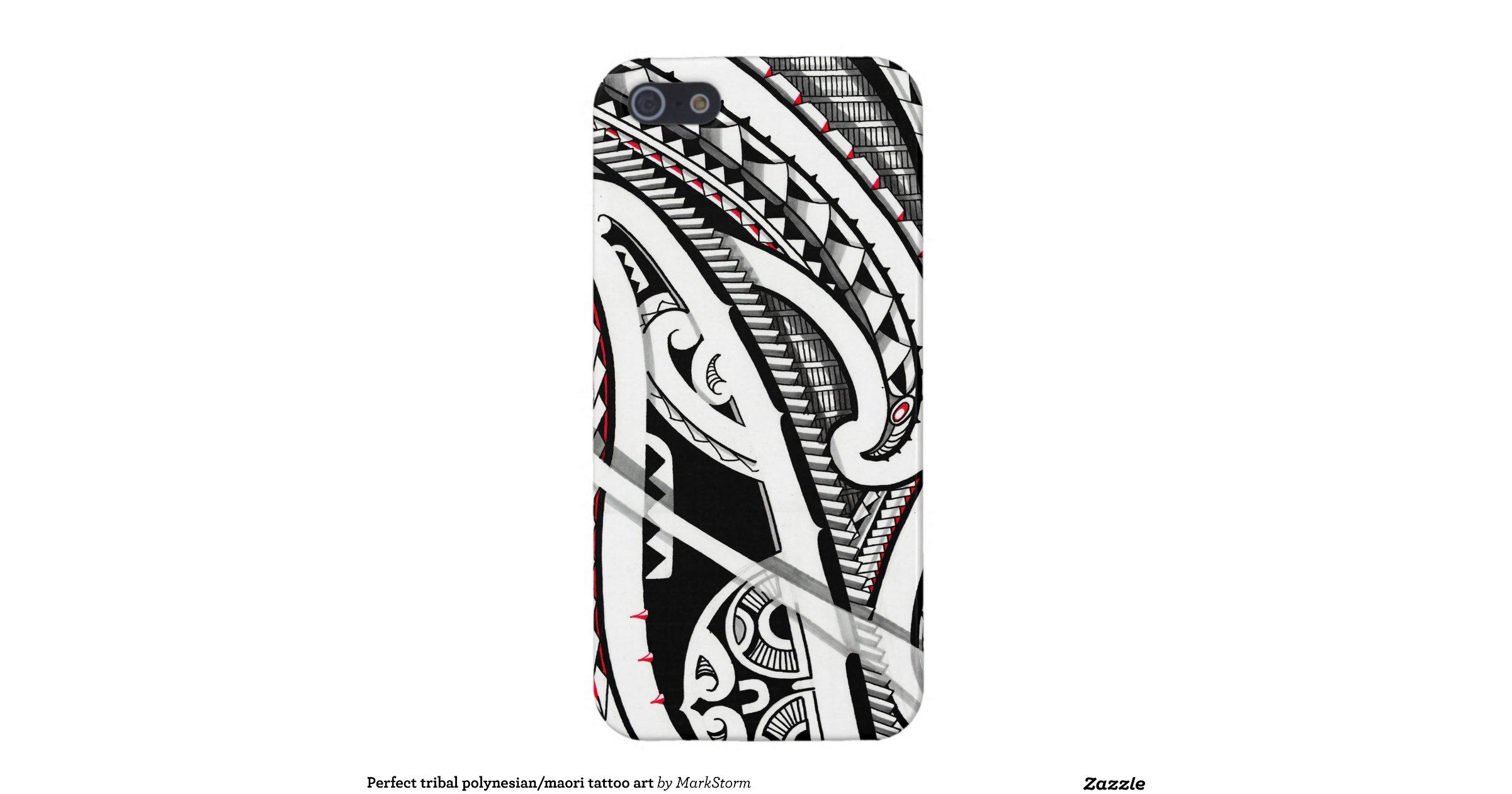Perfect tribal polynesian maori tattoo art iphone 5 5s for Tattoo artist iphone cases
