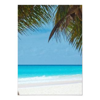 """Perfect Tropical Paradise Beach 5"""" X 7"""" Invitation Card"""