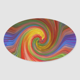 Perfect TWIRL Rainbow Graphic Love GIFTS unique 07 Stickers