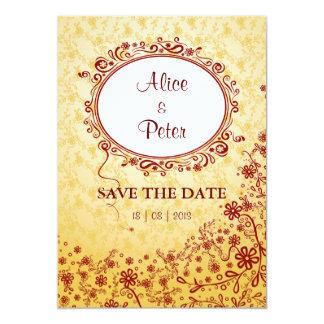 """Perfect Valentine (floral) invitation 5"""" X 7"""" Invitation Card"""