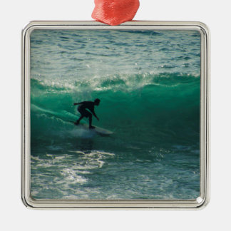 perfect wave metal ornament