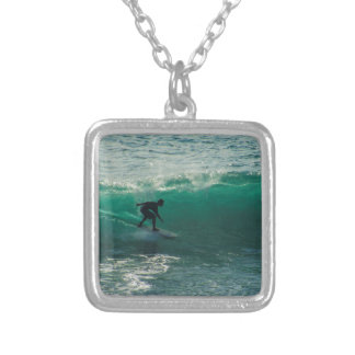 perfect wave silver plated necklace