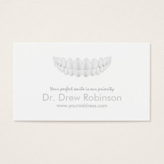 Perfect White Smile Simple White Dentistry Card