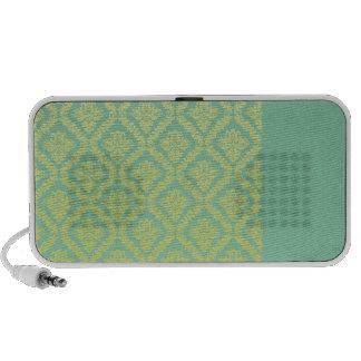 Perfect Yellow Damask birthday gift Mini Speakers