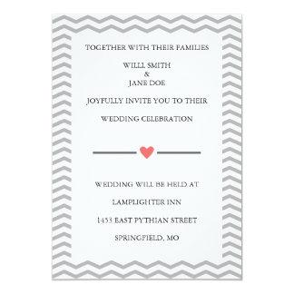Perfect Zig Zag Wedding Invitation