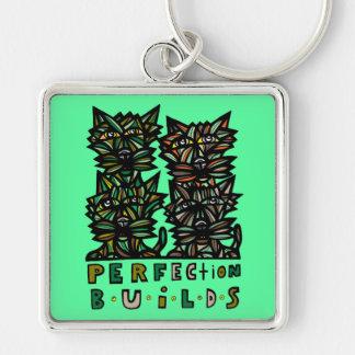 """Perfection Builds"" Premium Keychain"