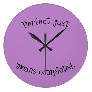 Perfection clock