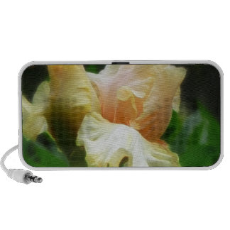 Perfection!  Iris Flower And Petals Laptop Speaker