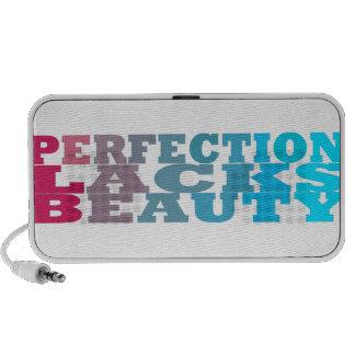 Perfection Lacks Beauty Mp3 Speaker